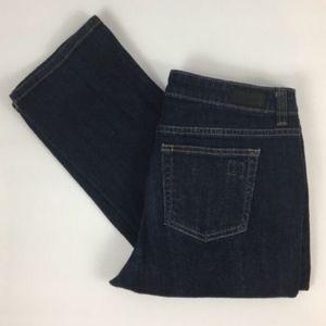 Liz Claiborne Classic Fit Straight Dark Wash Jeans